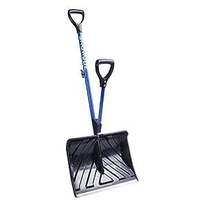 Snow Joe SJ-SHLV01 Shovelution Strain-Reducing Snow Shovel | 18-Inch | Spring Assisted Handle