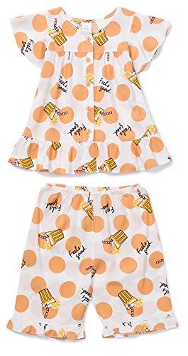 Orcite Girls Kids Summer Short Pajama Set Sleepwear Size 2T-12 Years Fresh Juice 5-6T (44-48 inch / 44-50 Ibs) (Best 50 50 E Juice)