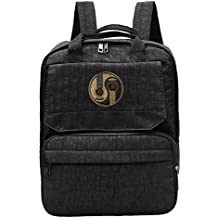 Old And Worn Acoustic Guitars Yin Yang Backpack For Women,Girls Recreation Haversack