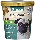 NaturVet No Scoot plus pumpkin 30 day supply, 60 soft chews