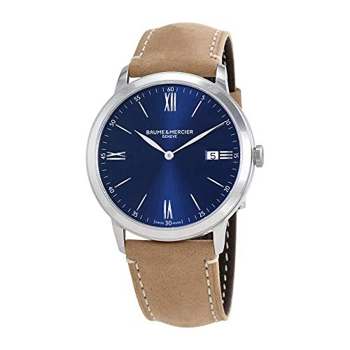 Baume et Mercier Classima Blue Dial Mens Watch 10385