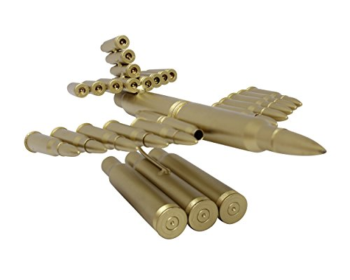 Creative Gold Bullet Shell Metal Plane-Unique New Model Bullet Shell Casing Shaped Fighter Jet- Great Decorative Piece Artillery Artwork Metal Model- Home Living/Study Room Decorations Gift