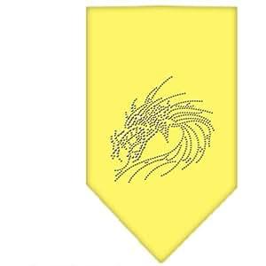 Mirage Pet Products Dragon Rhinestone Bandana, Small, Yellow