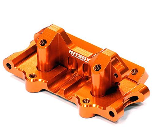 Integy RC Model Hop-ups T8641ORANGE Billet Machined T3 Front Bulkhead for 1/10 Rustler 2WD, Stampede 2WD & Slash 2WD