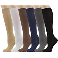 9035c276e 6 Pairs Knee High Graduated Compression Socks For Women and Men - Medical