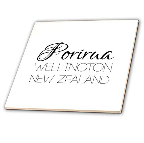 3dRose Alexis Design - New Zealand Cities - Porirua, Wellington, New Zealand. Patriot, Region, Home Town Design - 8 Inch Glass Tile (ct_308530_7) ()
