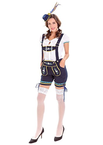 Bavarian Costume Women - Sexy Oktoberfest Lederhosen Beer Girl Costume (Bavarian Costume Female)