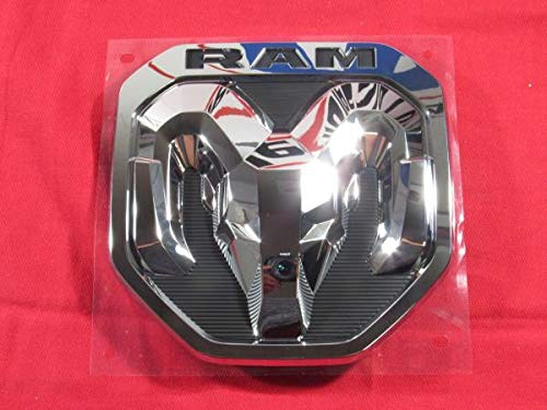 2019 DODGE RAM Chrome Tailgate RAM's Head Emblem Medallion NEW OEM MOPAR