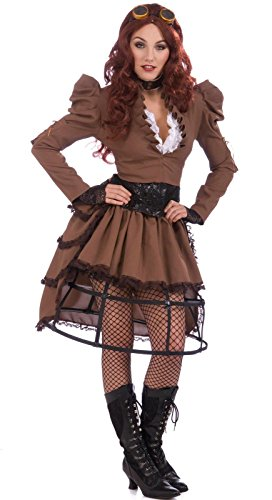 Steampunk Wigs (Forum Steampunk Vickie Complete Costume, Brown, One Size)