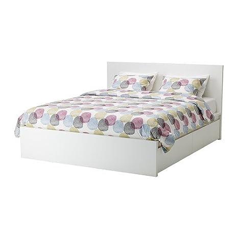 Letto Matrimoniale Contenitore Ikea.Ikea Malm Struttura Letto Matrimoniale Con 4 Scatole Colore Bianco