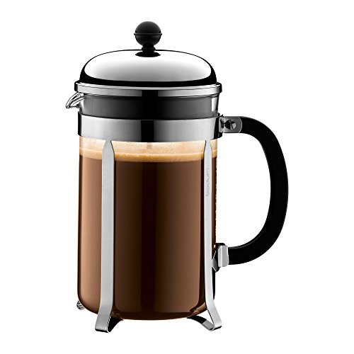 - Bodum Chambord French Press Coffee Maker, 51 Ounce, 1.5 Liter, Chrome