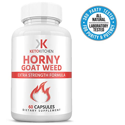 Horny Goat Weed Herbal Complex for Men and Women | L Arginine, Maca, Tribulus and Ginseng | 1,000mg of Epimedium Extract | Enhance Energy, Stamina and Performance | 60 Caps