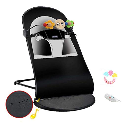 ZWQ kids Baby Rocking Chair Cradle, Baby Comfort Recliner Rocking Chair, Sleepy Cradle Bed for Children 0-24 Small Month Baby,B