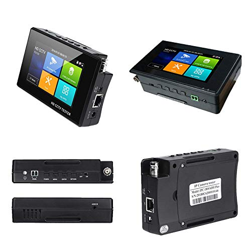 4K 5 in 1 IP Camera Tester, IP/TVI/CVI/AHD/CVBS Camera Monitor Test, 4 inch Monitor Touch Screen, POE/IP Discovery/Rapid ONVIF/Camera Test Report, 1800ADH-Plus CCTV Tester by AP Security (Image #1)