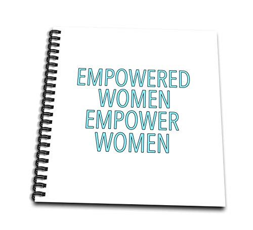 3dRose EvaDane - Inspirational Sayings - Empowered Women Empower Women Aqua - Mini Notepad 4 x 4 inch (db_308805_3)