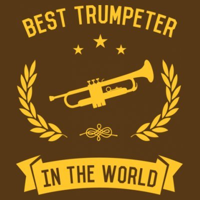 Sudadera con capucha de mujer Best Trumpeter In The World by Shirtcity Marrón