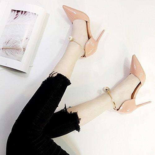 Boda Y Heels Zapatos Silver Talón De Tacón 10Cm9 De De Pearl Zapatos De Boda Rojo Verano Rosa Rojo High Zapatos GAOLIM Primavera Finos 7wZqRC
