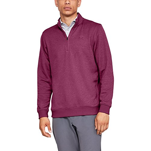 Under Armour Men's Storm Sweaterfleece ¼ Zip-Up, Charged Cherry, Large (Storm Golf Pullover)