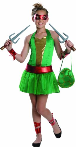 [Teenage Mutant Ninja Turtles Sassy Tween Girl's Raphael Costume, Medium] (Sassy Ninja Turtle Costumes)