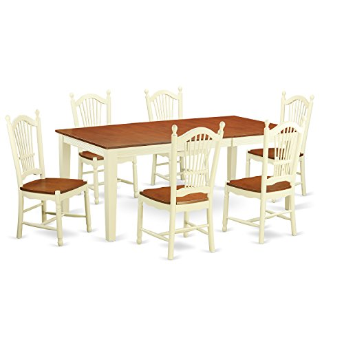 East West Furniture WEST7 BLK W 7 Piece Dining Table Set  : 41qR5rUNFkL from www.manythings.online size 500 x 500 jpeg 25kB