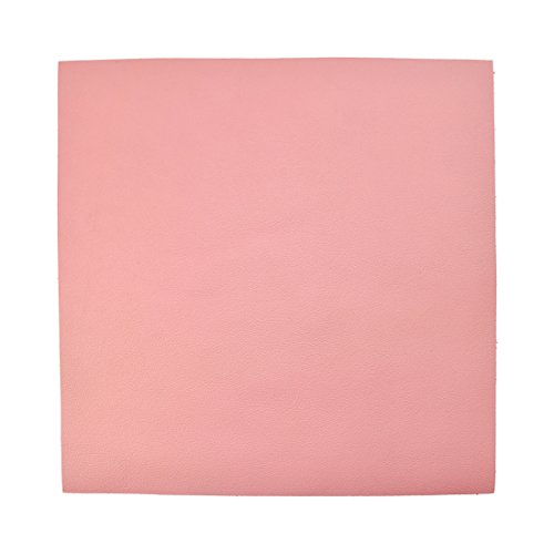 Hide & Drink Leather Square (12x12) for Crafts/Tooling/Hobby Workshop, Medium Weight (1.6mm) Pink