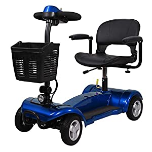 Portable Mobility Scooter 4mph Class 2 Travel Pavement Fits in Most Car Boots 4 (Blue) 43