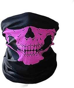Skull Print Bandana Headband Mask For Men