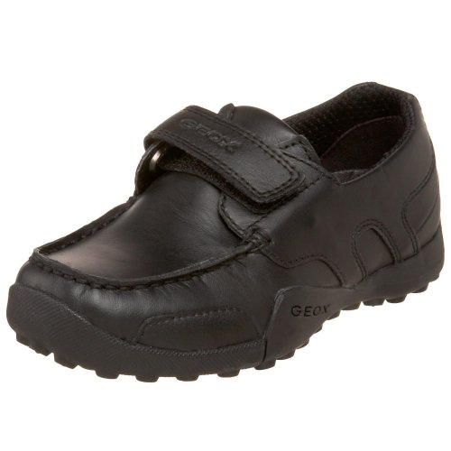 Geox Boys JR W.SNAKE MOCASSINO Shoe,black,33 M EU Big Kid (2 US)