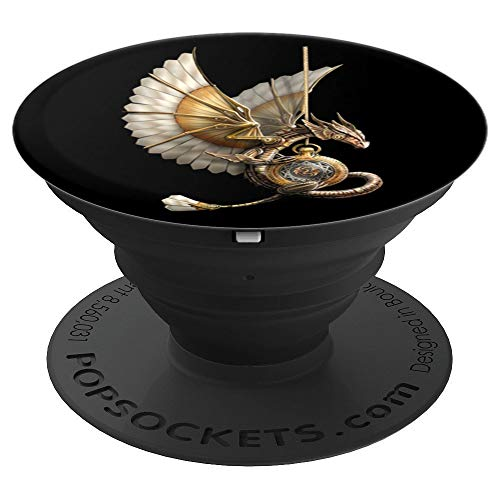 (Steampunk Dragon on watch - PopSockets Grip and Stand for Phones and Tablets)