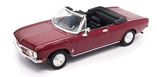 1969 Chevrolet Corvair Monza Convertible, Burgundy - Road Signature 94241 - 1/43 Scale Diecast Model Toy Car