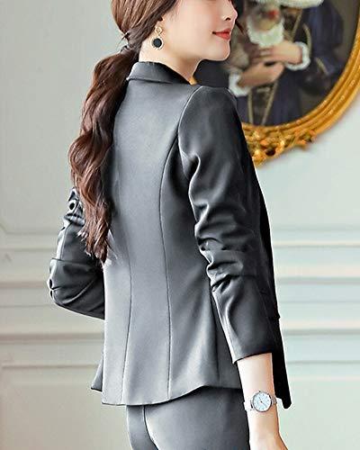 Clasicos De Y Blazers Blazer Negocios Pantalon Chaqueta Slim Fit Mujer Traje 2 Para xqYUdnAa
