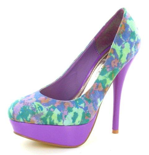 de azul material On sintético de Zapatos para vestir azul mujer Spot xgqFwE