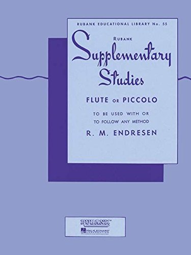 Flute or Piccolo Music Book Endresen: Supplementary Studies R M