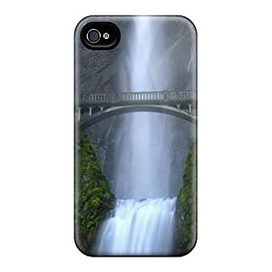 New Arrival Case Cover With Iic6521rNdO Design For Iphone 4/4s- Bridge Over The Waterfall