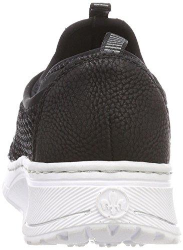 Black women's Sneaker Textile Rieker women's Rieker 7wUqOX