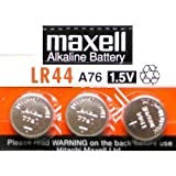 #8: 3 Pack MAXELL AG13 LR44 A76 357 Alkaline Button Cell battery