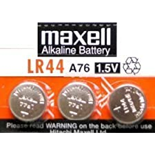 3 Pack MAXELL AG13 LR44 A76 357 Alkaline Button Cell battery