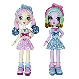"""Off the Hook Style BFFs, Naia & Jenni (Spring Dance), 4"""" Small Dolls with Mix & Match Fashions & Accessories, for Girls Aged 5 & Up"""