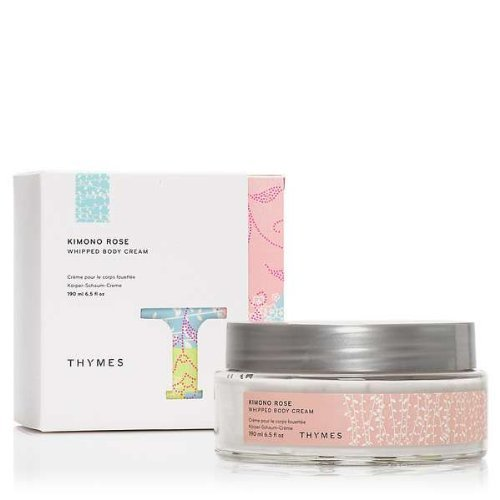 Thymes Kimono Rose Whipped Body Cream (Peony Lotion Rose Body)