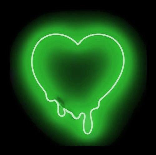 Desung Brand New 20'' Green Love Make My Heart Melt (Various sizes) CUSTOM Design Decorated Acrylic Panel Handmade Man Cave Neon Sign Light UT118