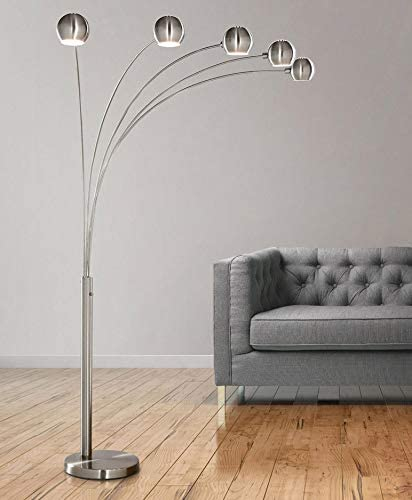 HOMEGLAM Orbs 5 Lights Arc Floor Lamp