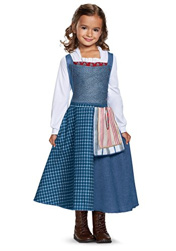 Disney Princess Girls Belle Classic Costumes (Disney Belle Village Dress Classic Movie Costume, Multicolor, Small (4-6X))