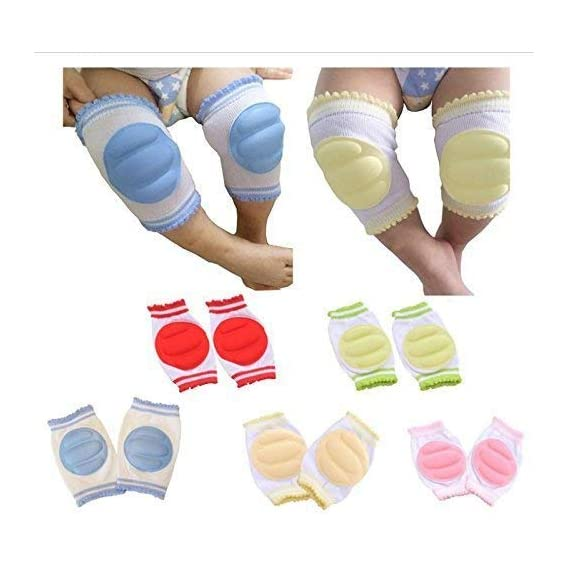 Mom care Baby Knee & Elbow Guard/pad for Crawling, Toddlers, Infant, Girl, Boys, Safety Protector Comfortable Cap for