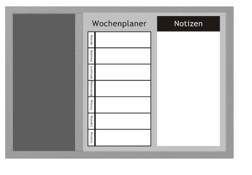 Zeller 11553 Kombitafel 3-in-1 / 60 x 40, alugrau