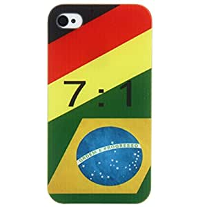 7:1 Germany VS Brazil Pattern PC Protective Case for iPhone 4/4S Multicolor