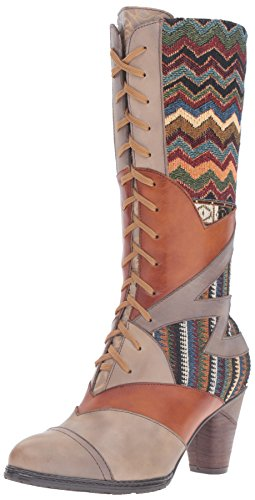 L'Artiste by Spring Step Womens Malag Boot Gray Multi xUrNm