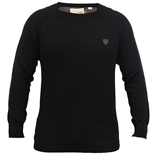Pullover Herren Soul Star Strickpulli Pullover Top Leicht Freizeit Winter - Schwarz - KELSONPKB, Herren, XX-Large