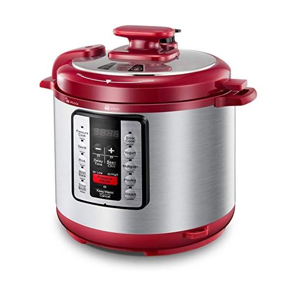 Electric Pressure Cooker ICOOKPOT 9-in-1 Multi- Use Programmable Smart Pressure Cooker, Slow Cooker, Yogurt Maker, Rice… 1