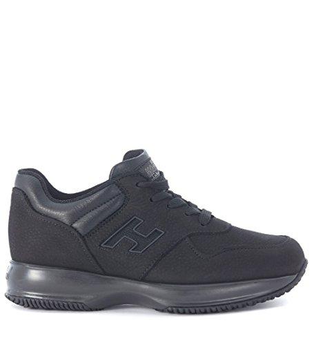Sneaker Hogan Interactive in nabuk nero Negro