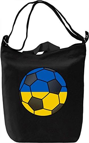 Ukraine Football Borsa Giornaliera Canvas Canvas Day Bag| 100% Premium Cotton Canvas| DTG Printing|